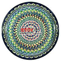 Ляган (узбекская тарелка) 45х5см для подачи плова керамический (ручная роспись) (вариант 2)