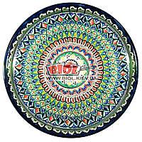 Ляган (узбекская тарелка) 45х5см для подачи плова керамический (ручная роспись) (вариант 3)