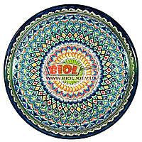 Ляган (узбекская тарелка) 45х5см для подачи плова керамический (ручная роспись) (вариант 4)