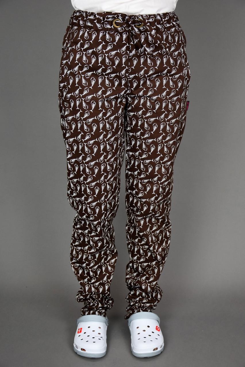 """Поварские брюки """"Карась""""коричневые"""