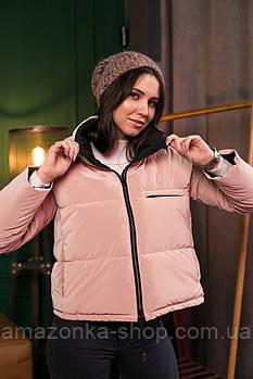 Стильная женская куртка с бархатистой плащевки весна 2021