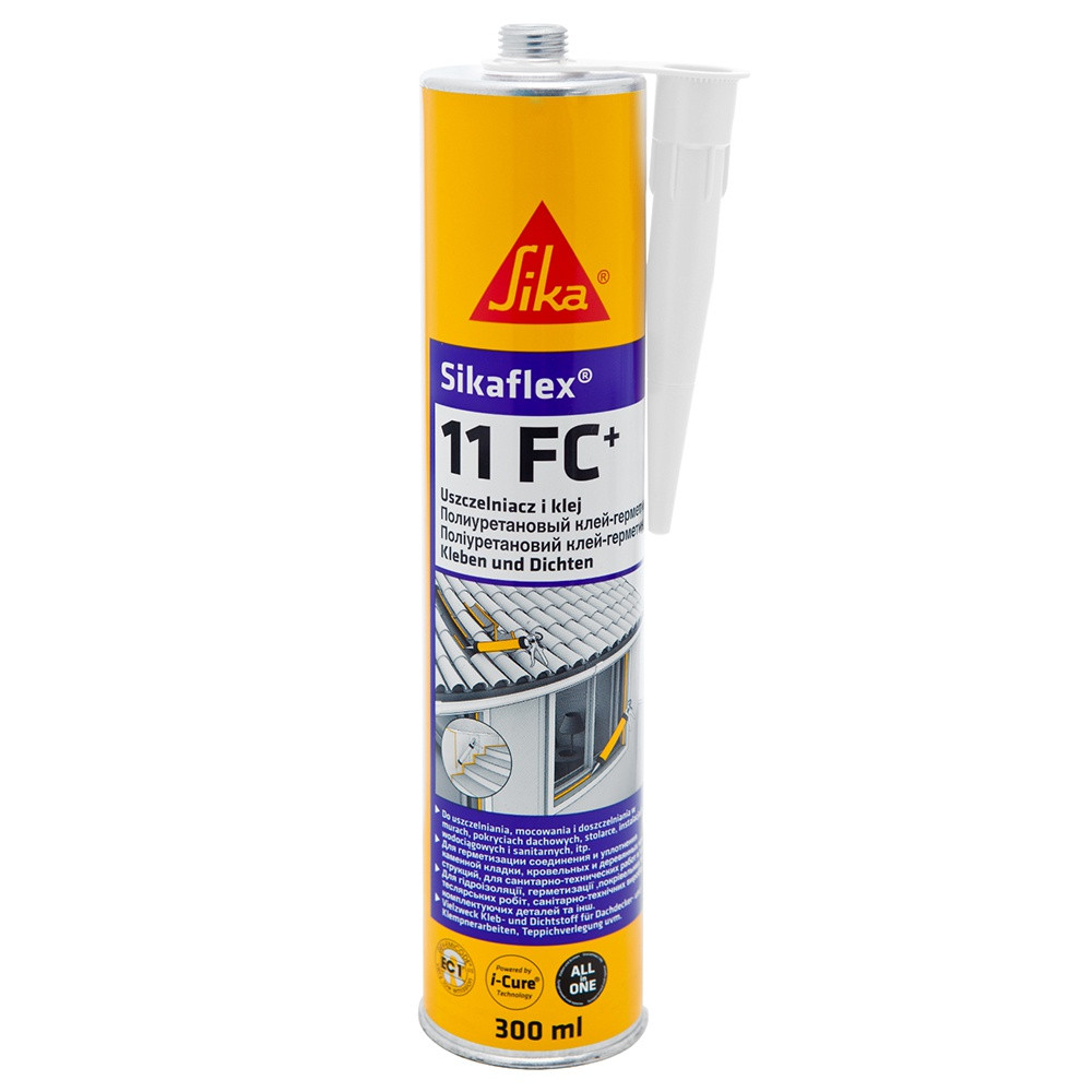 SIKAFLEX®-11FC+ Універсальний поліуретановий клей-герметик, білий, 300 мл