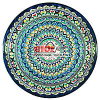 Ляган (узбекская тарелка) 45х5см для подачи плова керамический (ручная роспись) (вариант 10)