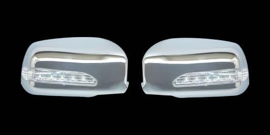 Накладки на зеркала LED (2 шт, пласт) Mitsubishi Lancer 9 2004-2008 гг. / Накладки на зеркала Митсубиси Лансер
