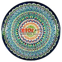 Ляган (узбекская тарелка) 45х5см для подачи плова керамический (ручная роспись) (вариант 14)