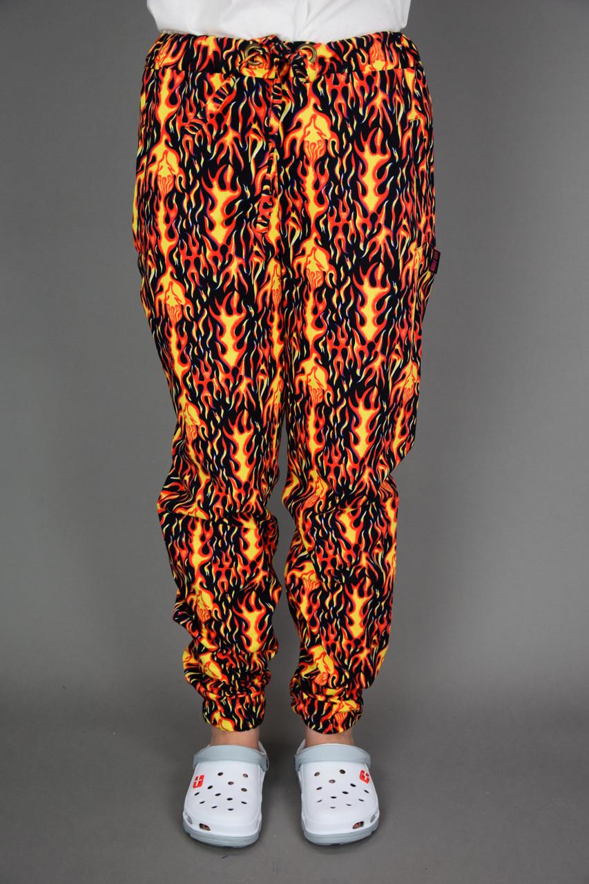 Поварские брюки Огонь под заказ