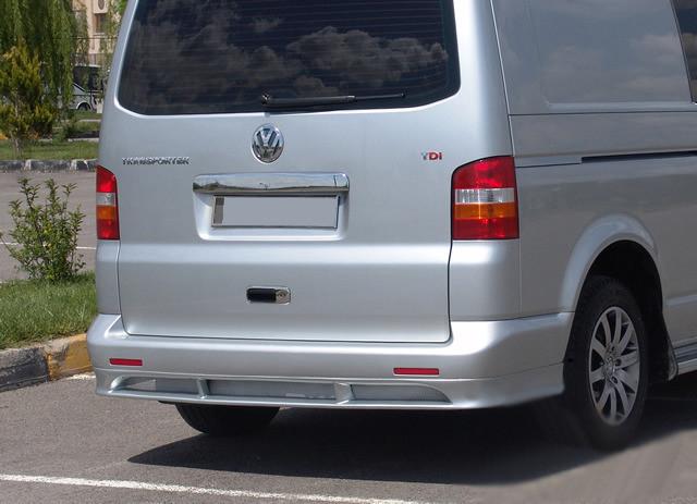 Накладка на задний бампер ABT (под покраску) Volkswagen T5 Multivan 2003-2010 гг. / Тюнинг заднего бампера