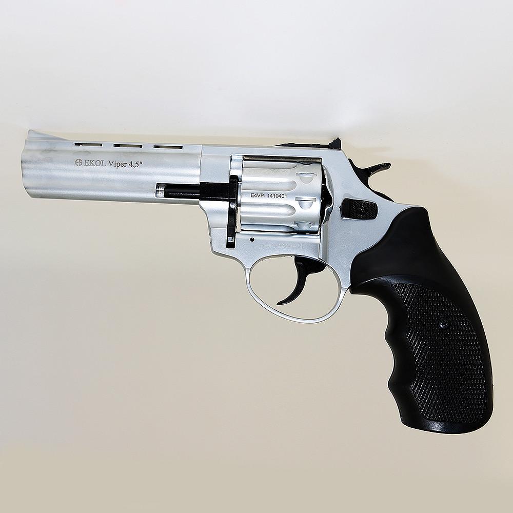 """Револьвер під патрон Флобера Ekol Viper 4.5"""" (хром) 1805"""