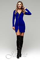 Короткое платье Феличита электрик ТМ Жадон 42-50 размеры Jadone