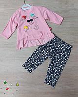 Детский трикотажный костюм Птичка для девочки 6-18 мес,цвет уточняйте при заказе