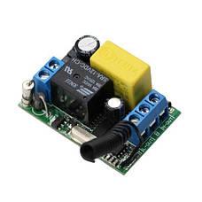 Вимикач на 220В з пультом управління у вигляді настінного кнопкового вимикача, фото 2