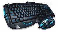 Проводная игровая клавиатура Atlanfa AT-V100P с 3-я подсветками и мышкой