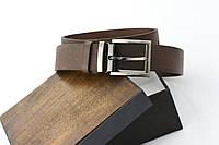 Мужской кожаный ремень коричневого цвета ( vintage )