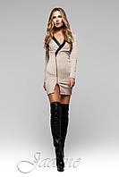 Короткое платье Феличита бежевое ТМ Жадон 42-50 размеры Jadone