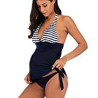 9055 Купальник для беременных Морячок, фото 1