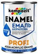 Эмаль акриловая PROFI Белая (шелк. матовая), 0,8 л