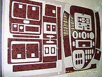 Mersedes Vito W638 1996-1999 накладки на панель Meric V-класс цвет карбон / Накладки на панель Мерседес Бенц