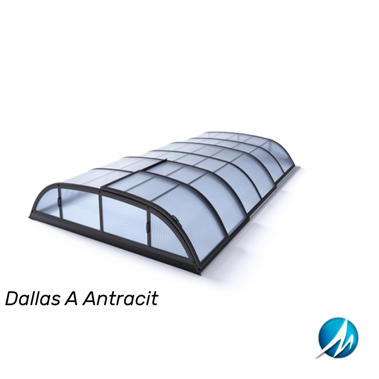 Павильон для бассейна Dallas A 4,07x6,4x0,82м - Antracit