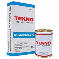Эластичный, двухкомпонентный материал на основе цемента и акрила Teknomer 200 ЕХ