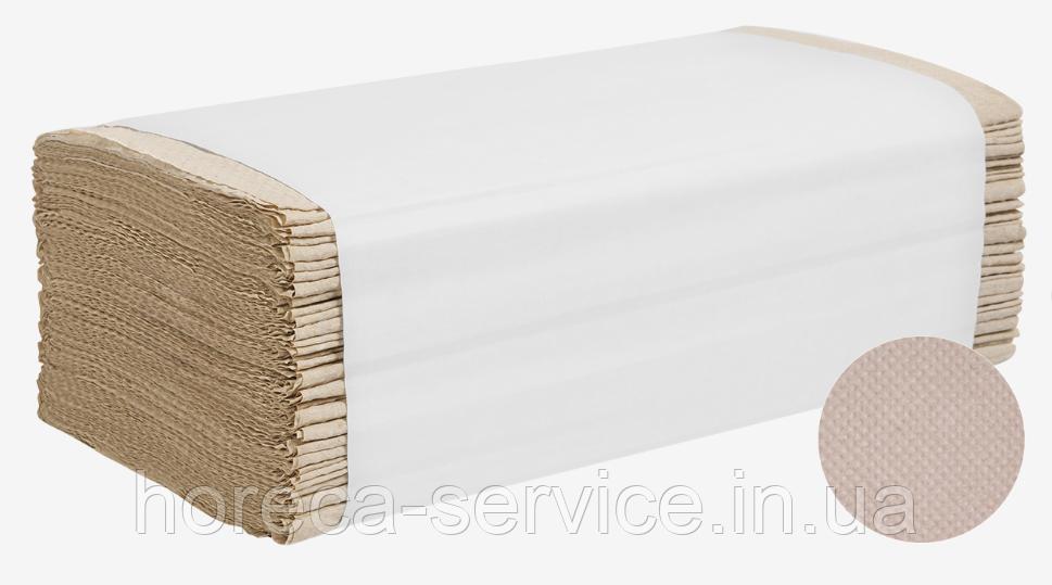 Бумажные полотенца листовые PAPERO V-сложение макулатура серые однослойные 160 шт.