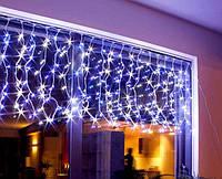 Новогодняя светодиодная гирлянда бахрома 200 LED 4,5м на 0,55 м белая и мульти