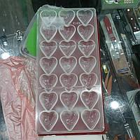 Форма для шоколада Empire 27x 13x 2.5 мм сердце (1369)
