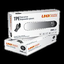 Перчатки одноразовые Unex ТРЕ Black, размер XL