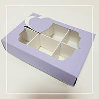 Коробка картонная для 6 конфет