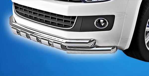 Передний ус ST015 (нерж) Volkswagen T5 Transporter 2003-2010 гг. / Передние защиты Фольксваген Т5