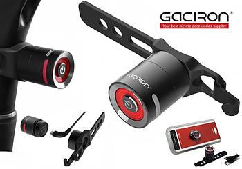 Велосипедный задний фонарь мигалка GACIRON W10 (5LM, 200mAh, 220°, USB, IPX5, 3 Режима, Время до 24ч)