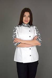 """Жіночий кітель кухарський """"Кухар"""" білий"""