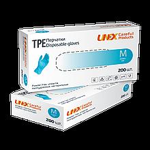 Перчатки одноразовые Unex ТРЕ Blue, размер M