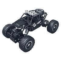 Автомобиль OFF-ROAD CRAWLER на р/у – MAX SPEED (матовый черный, метал. корпус, 1:18), SL-112RHMBl