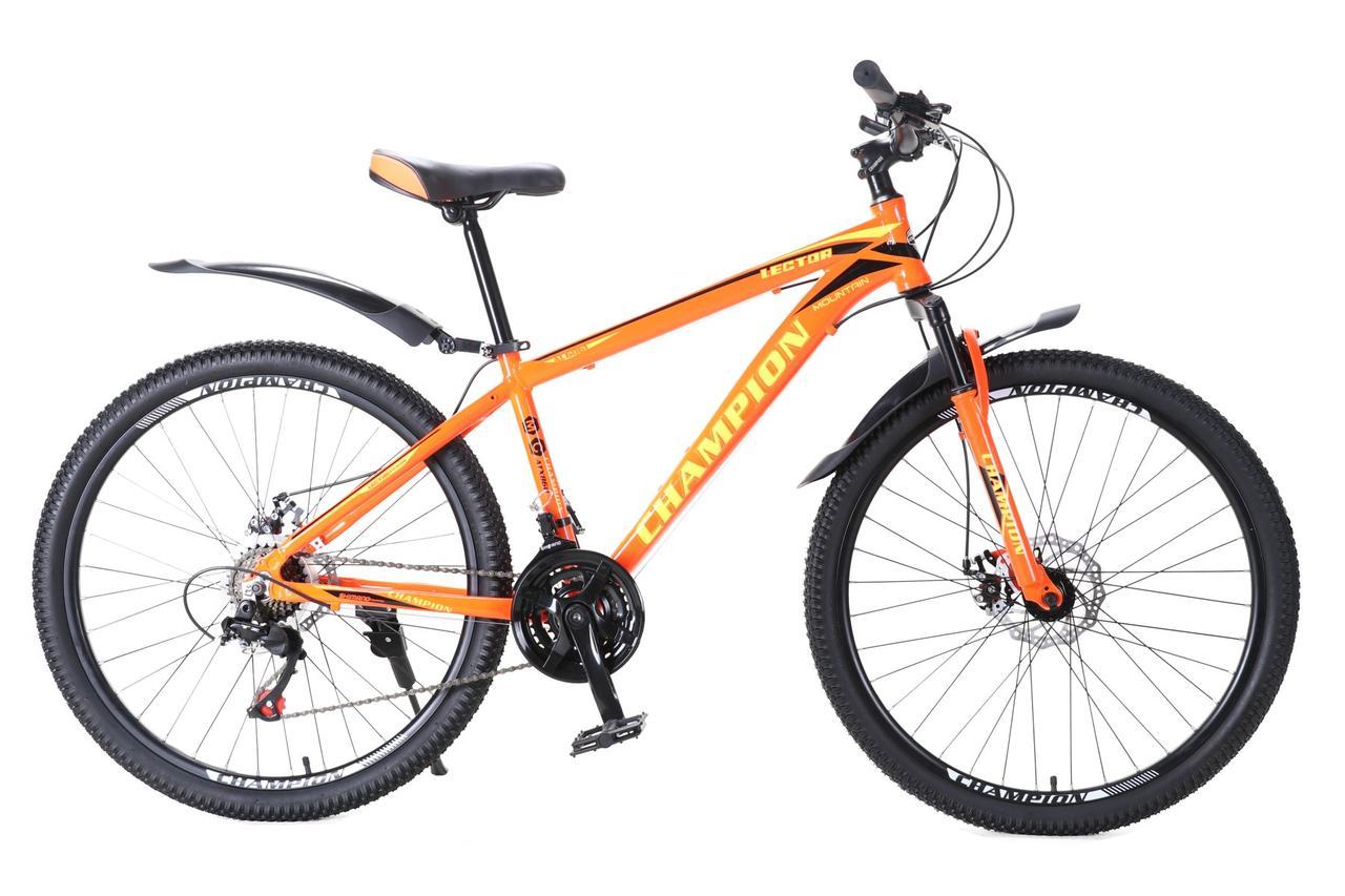 """Велосипед Champion Lector 26"""" алюмінієва рама 15"""" помаранчевий"""