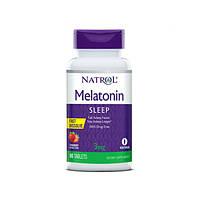 Мелатонін (Melatonin) Полуниця 3 мг F/D ТМ Natrol / Натрол 90 таблеток