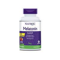 Мелатонін (Melatonin) Полуниця 3 мг F/D ТМ Natrol / Натрол 150 таблеток