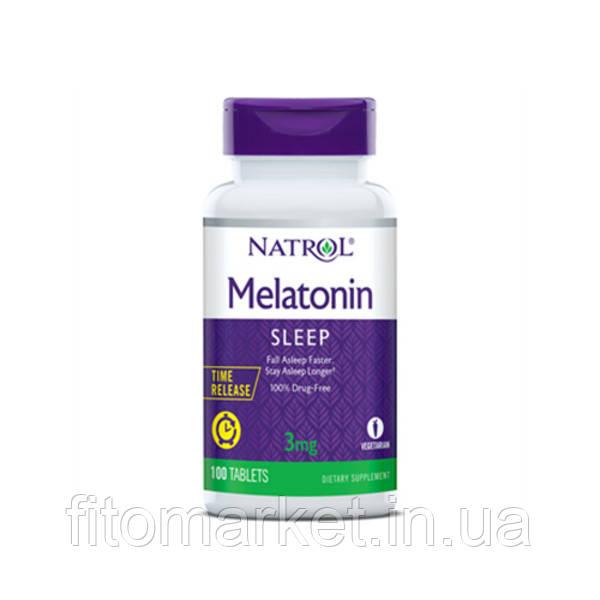 Мелатонин  (Melatonin) 3 мг T/R ТМ Natrol / Натрол 100 таблеток