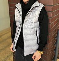 Мужская жилетка безрукавка спортивная серая стильная Турция | Жилет мужской. Живое фото, фото 1