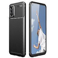 Чехол Carbon Case для Oppo A92 / A72 / A52 Black