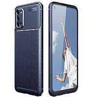 Чехол Carbon Case для Oppo A92 / A72 / A52 Blue