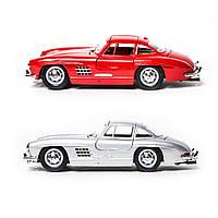 Автомодель - MERCEDES-BENZ 300 SL (1954) (ассорти красный, серебристый, 1:24), 18-22023, фото 1