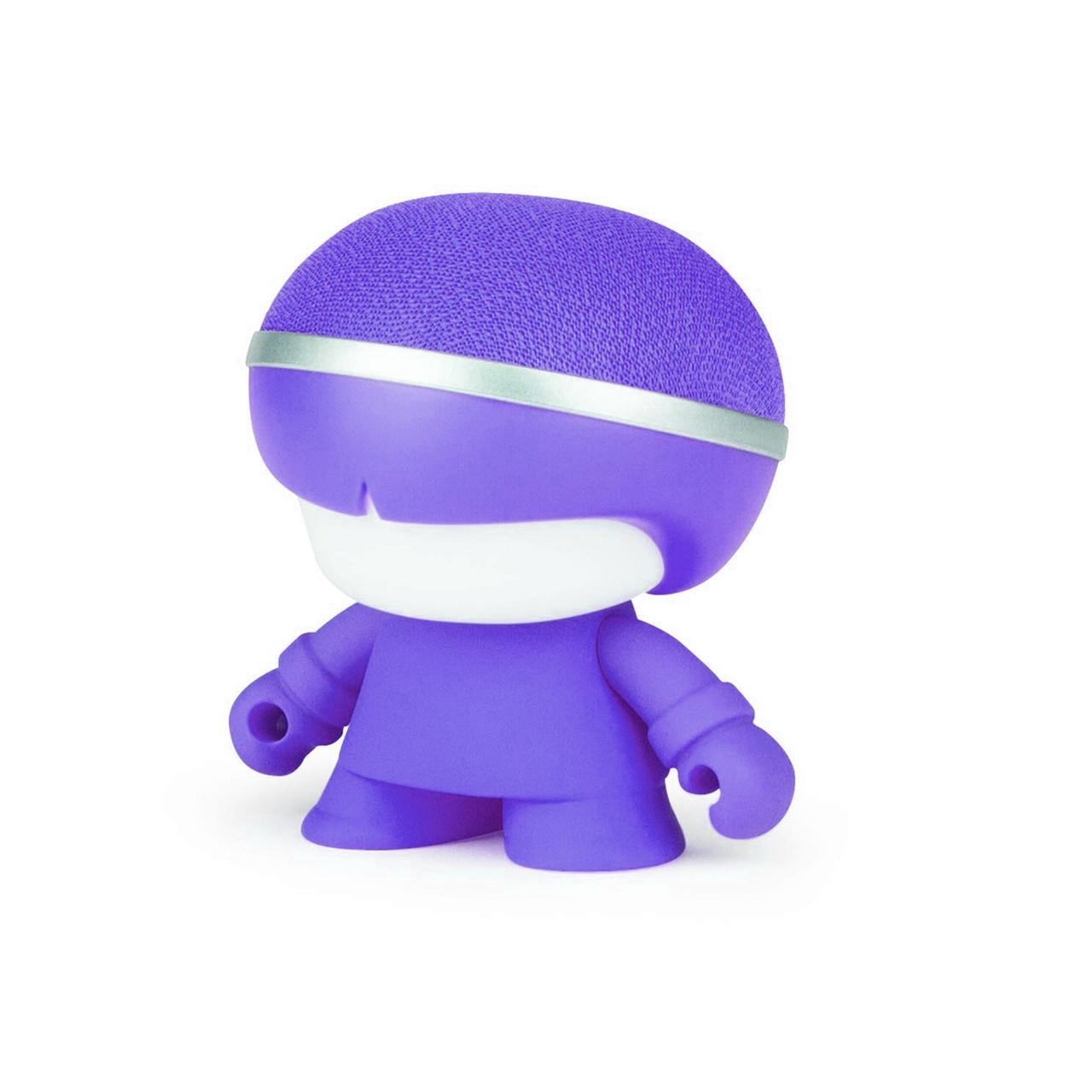 Акуст. система XOOPAR - Mini XBOY (7,5 cm, фиол., c Bluetooth, зарядн.USB-каб, LED-подсв., ремешк.),