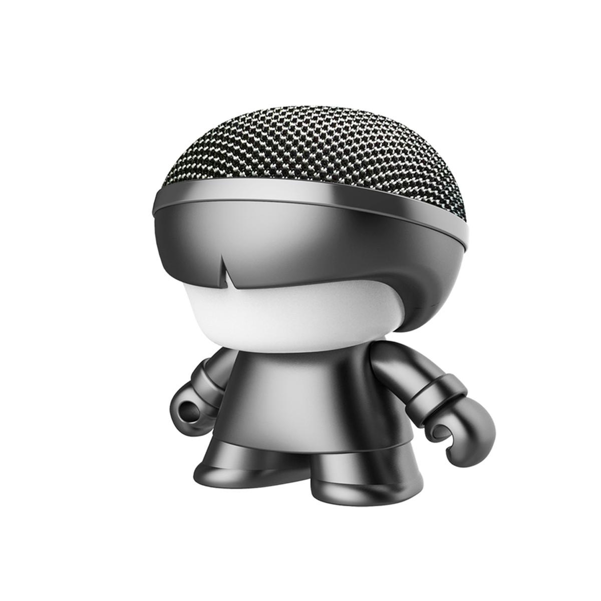 """Акуст. система XOOPAR серії """"Металік"""" - Mini XBOY (7,5 cm,сер.,Bluetooth,USB-каб,подсв., ремешк.),"""