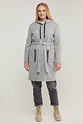 Модный женский кардиган с капюшоном размер 50-60