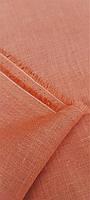 Льняна костюмна тканина світло - глиняного кольору, фото 1