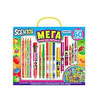 Ароматный набор для творчества - МЕГАКРЕАТИВ (фломастеры, карандаши, ручки, маркеры, наклейки), 4515