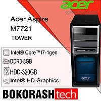 Системний блок  Acer  Aspire  M7721 / Tower-1156 / Intel core I7-1gen / DDR3-8GB / HDD-320GB (к.00100610-1), фото 1