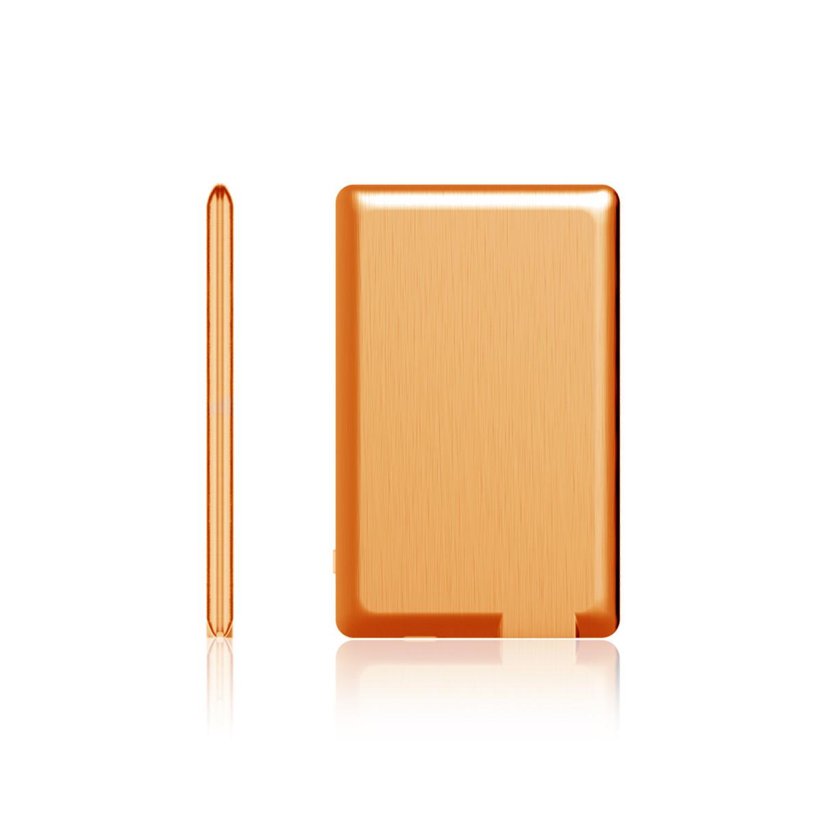 Внешн. порт.аккум. Батарея XOOPAR - POWER CARD(Li-Pol,1300мА*ч,оранж,microUSB/USB-каб, LED), XP61057