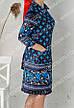 Велюровый халат на молнии  с поясом р.52-62, фото 3