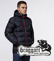 Braggart Aggressive 10168   Мужская зимняя куртка т.синий-красный